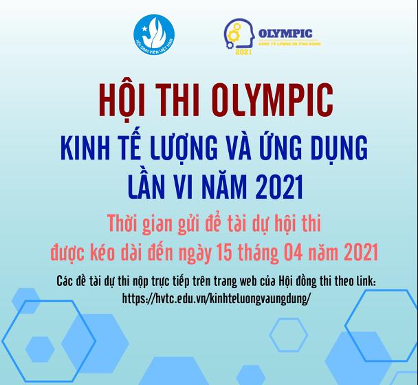 THAM GIA HỘI THI OLYMPIC KINH TẾ LƯỢNG VÀ ỨNG DỤNG LẦN VI – NĂM 2021